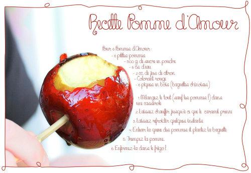 Recette pomme d amour